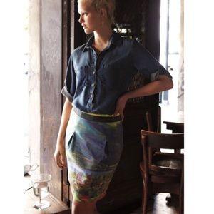 • Cloth & Stone • Chambray Button Down Shirt M